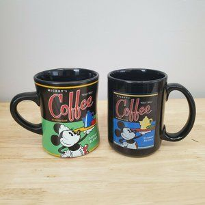 Lot of 2 Disney Theme Parks Mugs Mickey Mouse